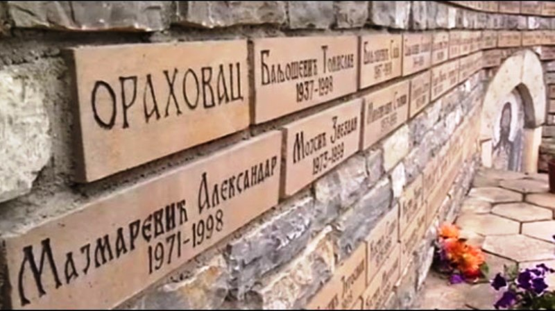 Одржан помен страдалим Србима из општине Ораховац