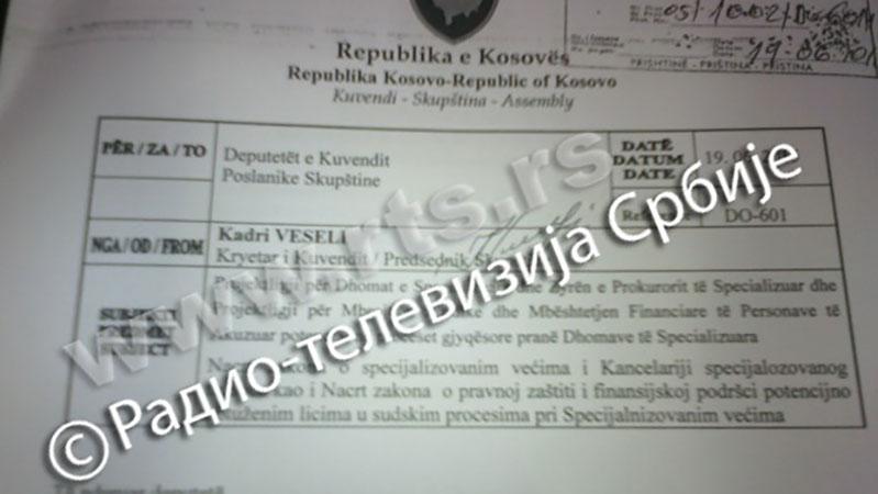 Sud za zločine OVK, mali Haški tribunal za Kosovo
